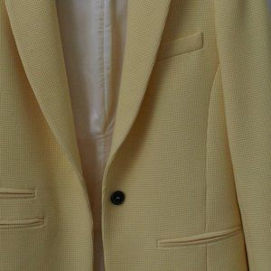 Casual sorbet-yellow blazer